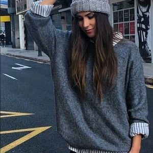 Marbled oversized sweater